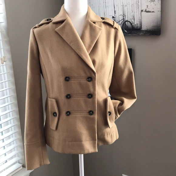Forever 21 Jackets & Blazers - Forever 21, love21, lined tan pea coat!!